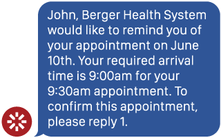 Appointment Reminders iMessage 1