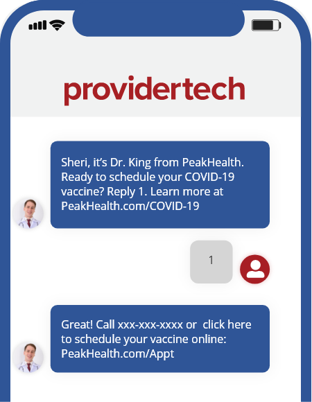 Providertech SMS Message - Example
